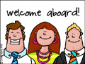 welcome aboard, employee welcome, employee relations, new member, membership, new customer, welcome, hi there, hello, business, company