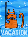 vacation - cat, bon voyage, holiday, vacation, spring break, trip, cruise, weekend, out of town, flight, ticket, fun in the sun, summer