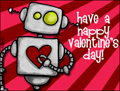 valentine, valentine's day, robot, heart, pink, love, friend, romance, beloved, xoxo