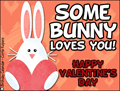 valentine, valentine's day, some bunny loves you, heart, pink, love, friend, romance, beloved, xoxo