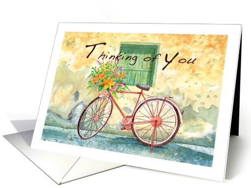 country bicycle, thinking of you card (744090)
