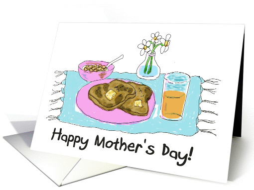 Happy Mother's Day Breakfast Gift Paper card (177745)