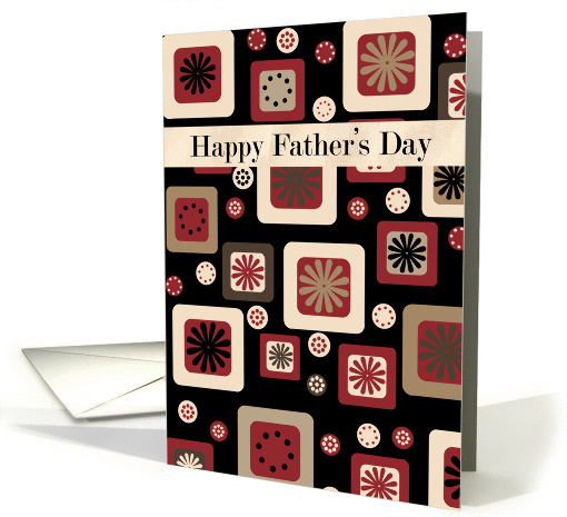 Father's Day card with modern graphic design in earthy shades card