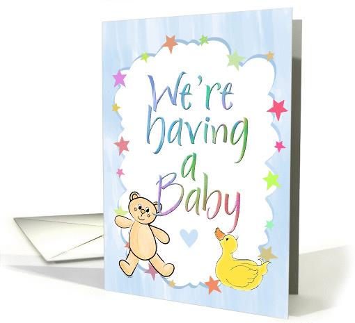 We're Expecting Pregnancy Announcement card (230239)