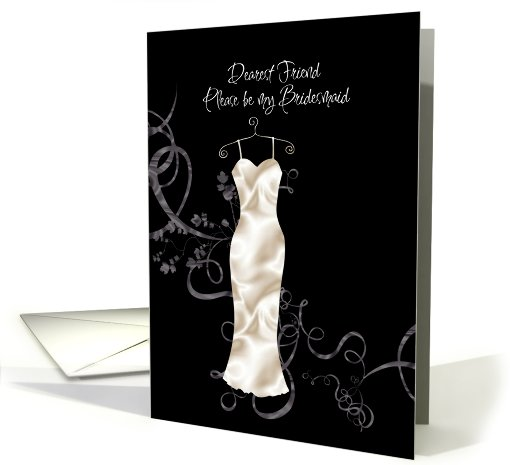 best friend be my  bridesmaid card (425202)