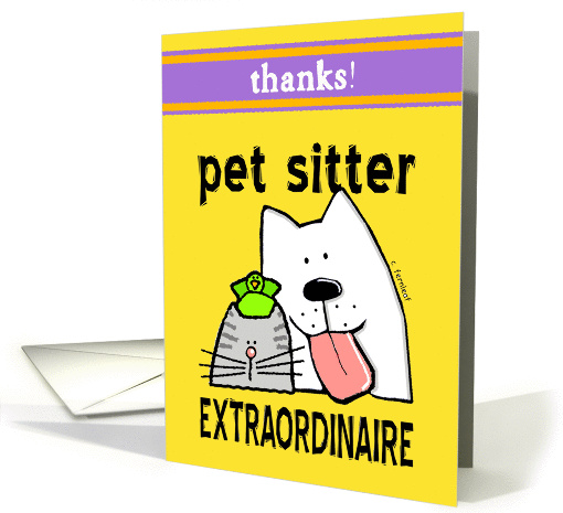 Thanks, Thank-You, Pet Sitter, Dogs, Cats, Birds card (610814)