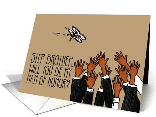 Step Brother - Will you be my man of honor? card (1035795)
