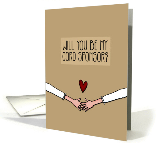 Will you be my Cord Sponsor? - from Lesbian Couple card (1046257)