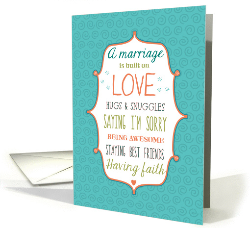 Words to Live By - Wedding Congratulations card (1079828)