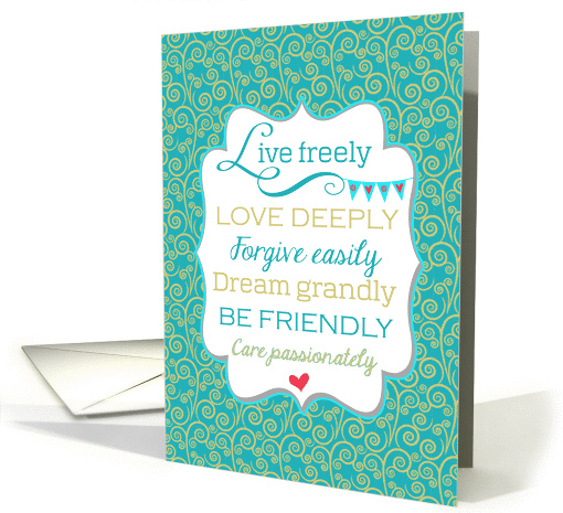 College Graduation Inspirational Message Congratulations card