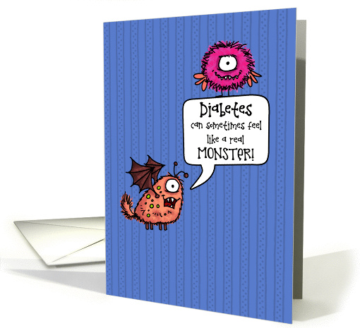 A Real Monster - Encouragement for Child with Diabetes card (1267438)