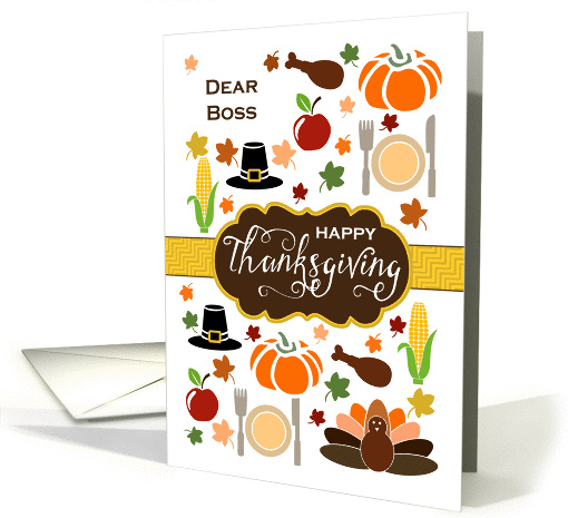 Boss - Thanksgiving Icons card (1337944)