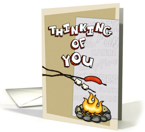 Thinking of you at summer camp - campfire card (899603)