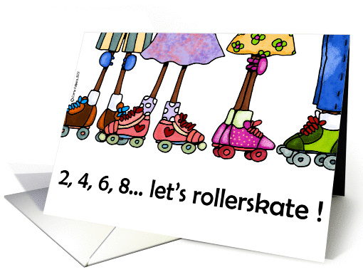 rollerskating party invitation card (115739)