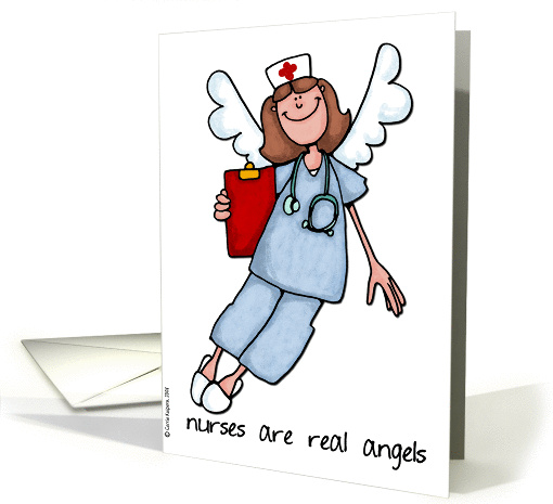 nurse's day - nurses are real angels card (163662)