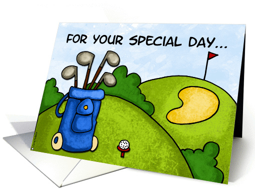 golf - for your special day card (201168)