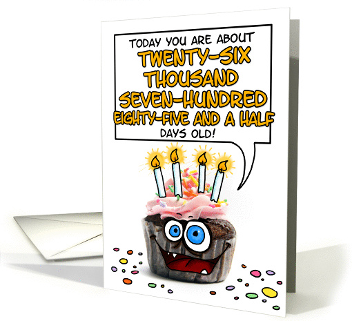 Happy birthday - 73 years old card (278493)