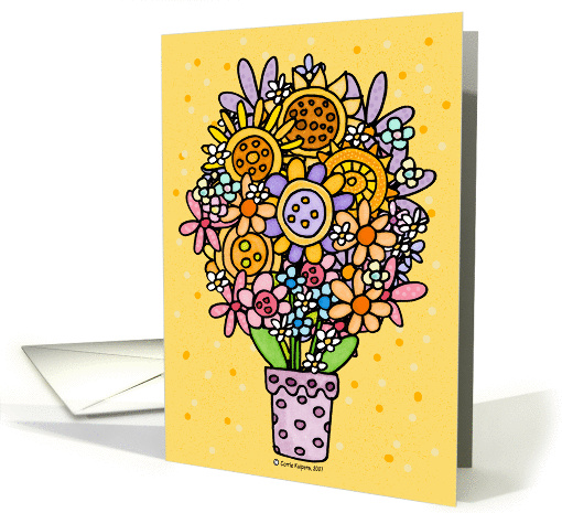 mother-in-law's day bouquet card (53741)