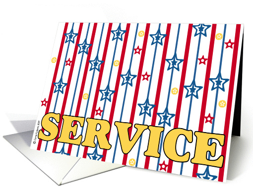 support our troops - service card (58661)