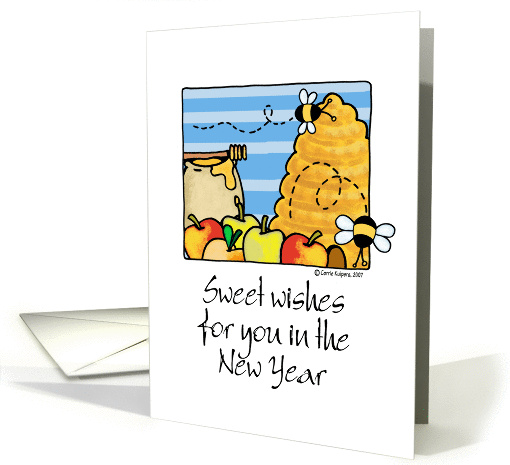 rosh hashanah - sweet wishes card (83412)