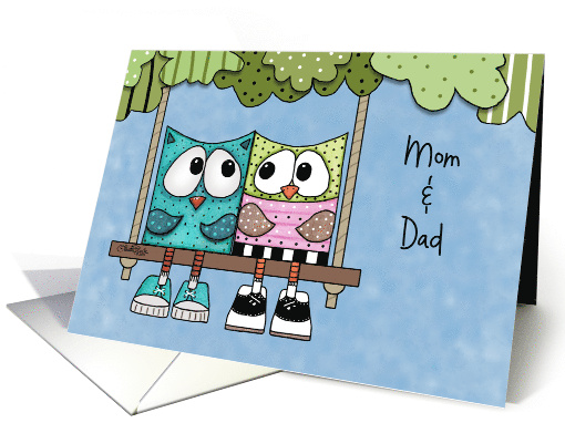 Customizable Happy Anniversary for Mom and Dad-Two Owls... (1191516)