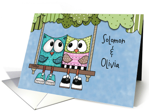 Customizable Happy Anniversary for Name Specific-Owls on... (1191518)