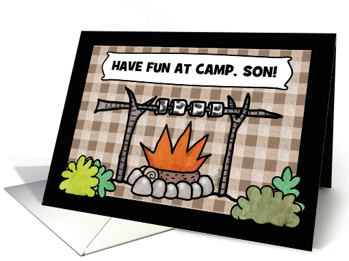 Customize Thinking of You-Summer Camp for Son- Campfire card (1212846)