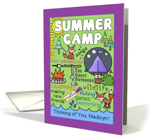 Customizable Name- Thinking of You-Summer Camp- Camp... (1213780)