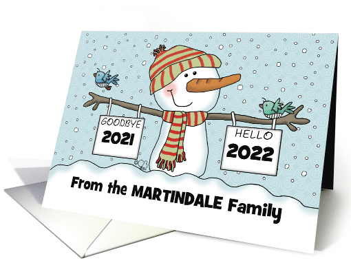Snowman w/ Signs,Customizable Date New Year's 2019,from... (1320932)