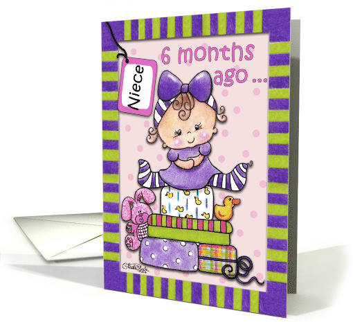 Niece's Half Birthday,Baby and Gifts card (1584106)