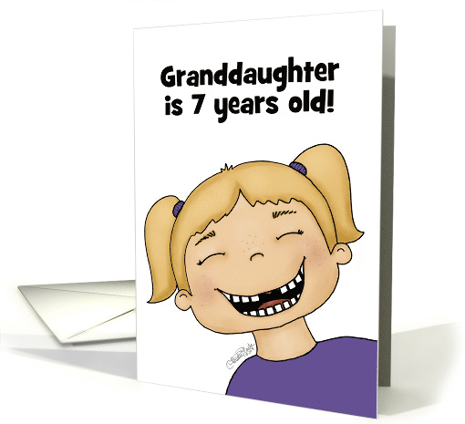 Customizable Birthday Granddaughter 7 year old, Girl No... (1588732)