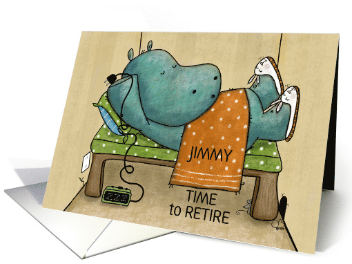 Customized Happy Retirement for Jimmy, Hippo Pulls Plug on Alarm card