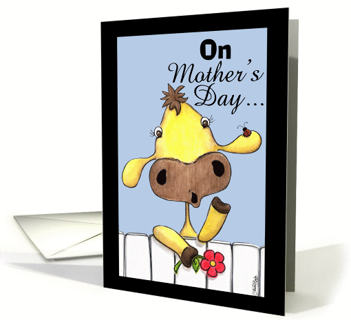 Cow Over the Fence-Happy Mother's Day card (53109)