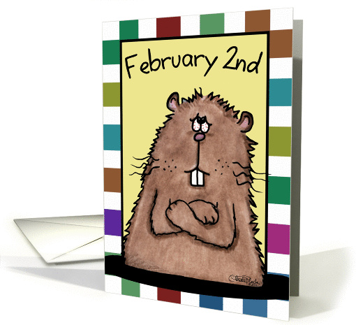 Happy Groundhog Day-February 2nd Groundhog card (890213)