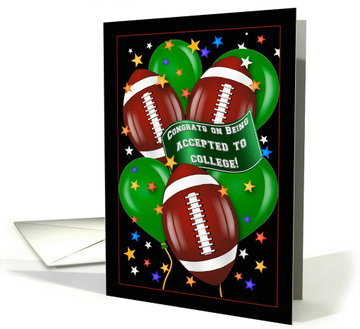Football Theme Congratulations College Acceptance card (1458352)