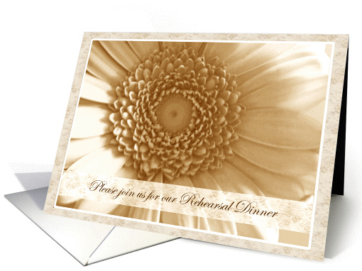Rehearsal Dinner Invitations Sepia Antique Flower card (232554)