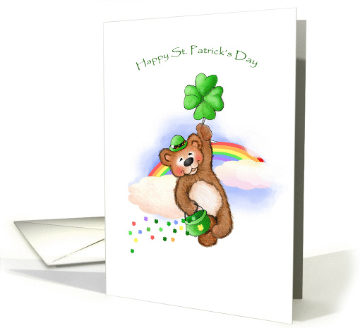 Spreading Some Irish Cheer St Patricks Day Traditional Paper card