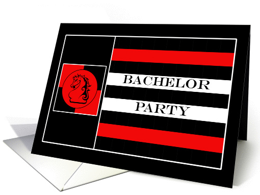 Guys Only Bachelor Party Invitations Paper card (382072)