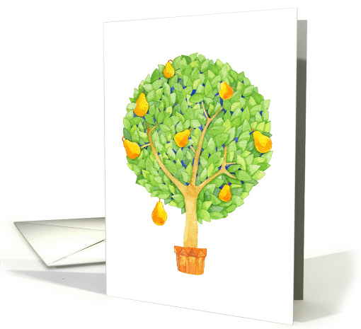 Any Occasion, Pear Tree, Blank Inside card (1354340)