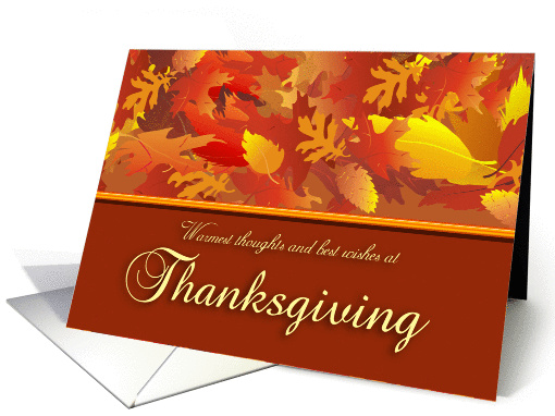 Thanksgiving Wishes card (105950)