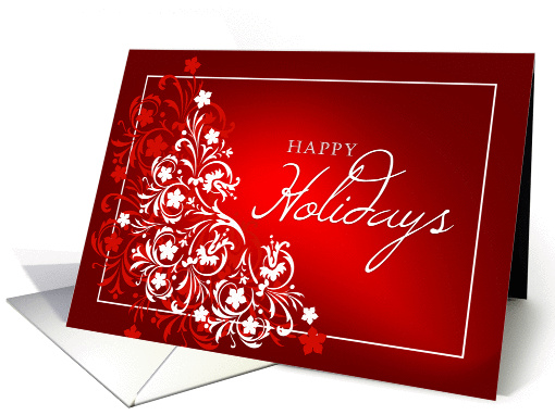 Happy Holidays Greeting Card - Abstract card (221851)