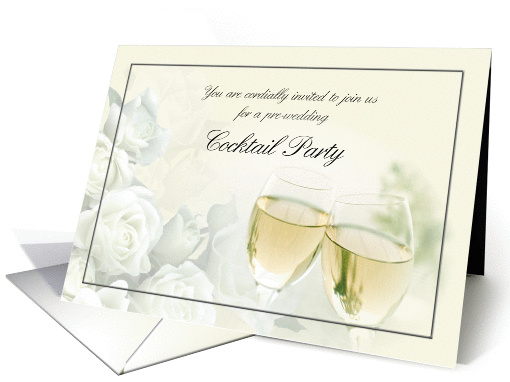Pre-Wedding Cocktail Party Invitation card (256461)