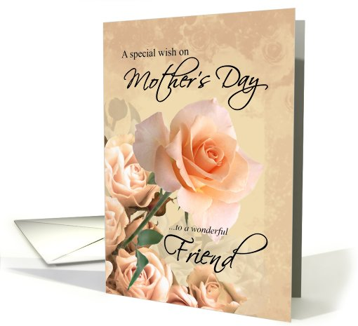 Happy Mother's Day, Friend - Vintage Rose card (417441)