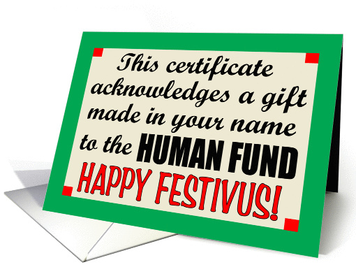Festivus Wishes card (80644)