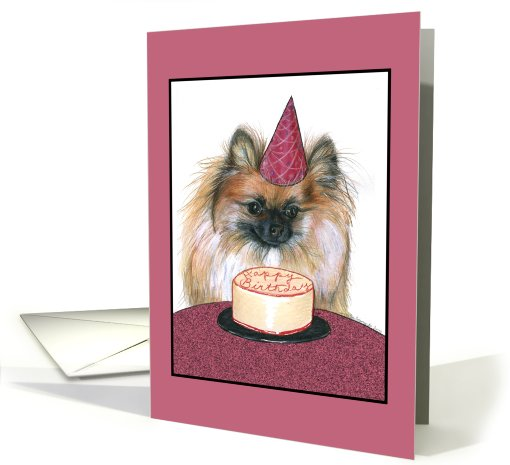 Happy Birthday Pomeranian card (546477)