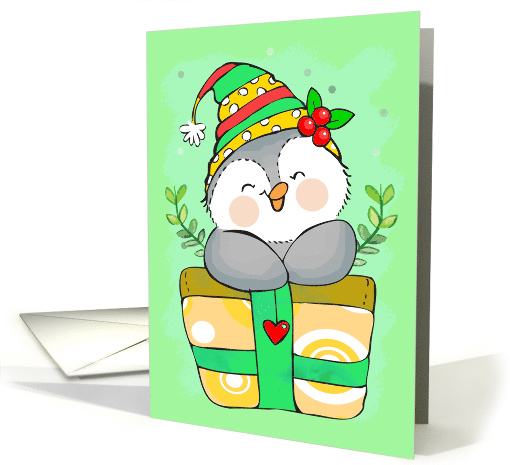 Happy Holidays Penguin and Gift card (1580220)