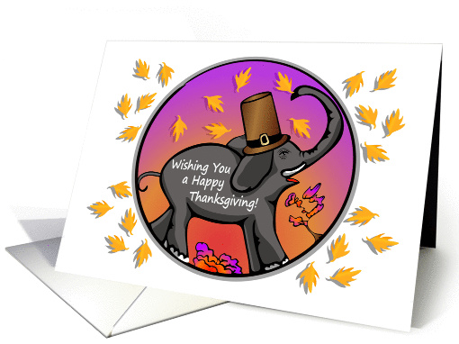 Happy Thanksgiving Elephant card (1445098)