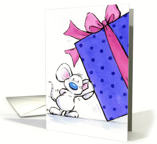 happy birthday mouse card (92738)