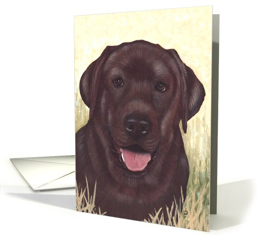 Labrador Retriever Painting card (419238)