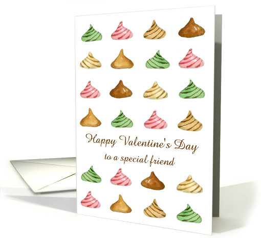 Happy Valentine's Day Custom Card Candy Watercolor Illustration card